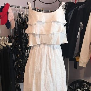 NEVER WORN white dress with layered top